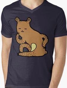 Thinking Bear Mens V-Neck T-Shirt