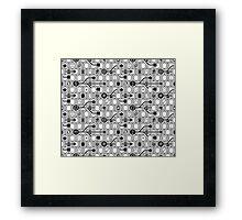 Geek spirit (Gray) Framed Print