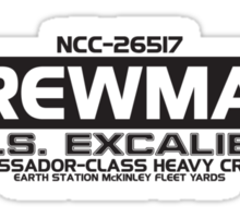 USS Excaliber Sticker