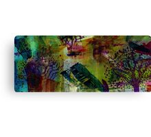 In the Land of Purple Trees Canvas Print