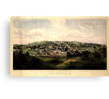 Panoramic Maps Staunton Va drawn from nature by Ed Beyer W Rau 003 Canvas Print