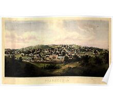 Panoramic Maps Staunton Va drawn from nature by Ed Beyer W Rau 003 Poster