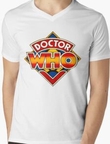 Doctor Who Logo. Mens V-Neck T-Shirt