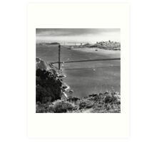 Historic Ship Parade - 75th Anniversary of the Golden Gate Bridge Art Print