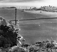 Historic Ship Parade - 75th Anniversary of the Golden Gate Bridge by Rodney Johnson