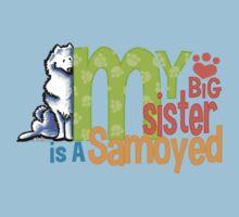 Big Sister Samoyed One Piece - Short Sleeve