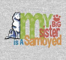 Big Sister Samoyed Kids Tee