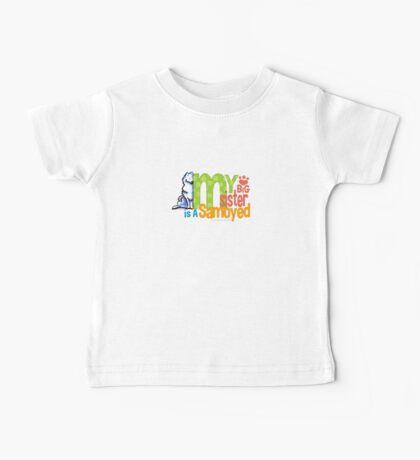 Big Sister Samoyed Baby Tee