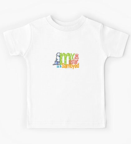Big Sister Samoyed Kids Tee