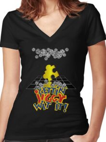 """Gettin' Jiggy Wit' It!"" Women's Fitted V-Neck T-Shirt"
