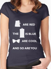 Doctor Who Poem. Women's Fitted Scoop T-Shirt