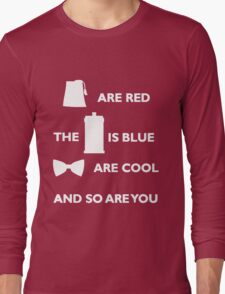 Doctor Who Poem. Long Sleeve T-Shirt