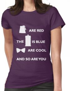 Doctor Who Poem. Womens Fitted T-Shirt