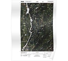 USGS Topo Map Washington State WA Boundary Dam 20110428 TM Poster