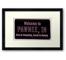 Pawnee Indiana Framed Print