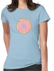 Yummy kawaii pink doughnut Womens Fitted T-Shirt