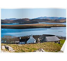 Landscape, Callanish standing stones visitor centre and Loch Ceann Huabhig Poster