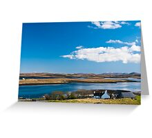 Landscape, Callanish standing stones visitor centre and Loch Ceann Huabhig Greeting Card