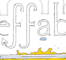 Ineffable (Good Omens) Sticker