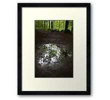 above and below Framed Print