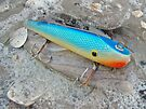 J and J Flop Tail Vintage Saltwater Fishing Lure - Blue by MotherNature