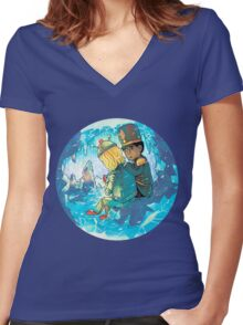 Cave of Frozen Memories (Community) Women's Fitted V-Neck T-Shirt
