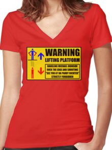 Health And Safety On Mars Women's Fitted V-Neck T-Shirt