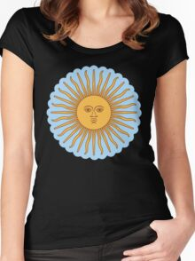 Cool Sun >Cute design< Women's Fitted Scoop T-Shirt