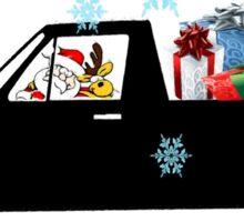 Santa caddy Sticker