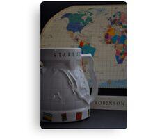 Robinson's World Coffee Cup Canvas Print