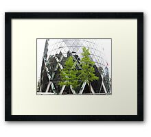 LONDON CITY TREES Framed Print