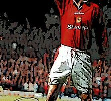 Eric Cantona in pop art by db Artstudio by Deborah Boyle