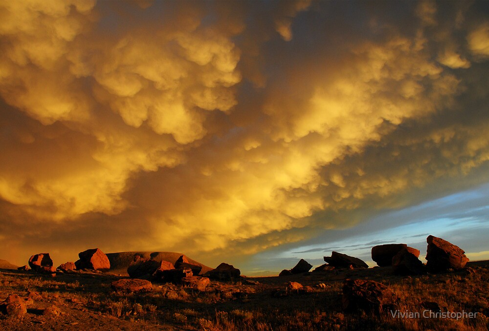 Red Rock Coulee Sunset by Vivian Christopher