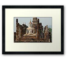 Buddha At Sukhothai Thailand Framed Print