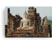 Buddha At Sukhothai Thailand Canvas Print
