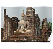 Buddha At Sukhothai Thailand Poster