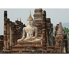 Buddha At Sukhothai Thailand Photographic Print