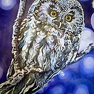 Wise Owl by Db Artstudio by Deborah Boyle
