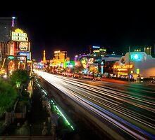 Vegas Light Trails by Yhun Suarez