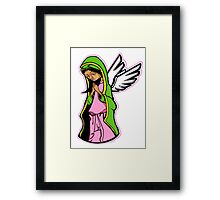 SHE WHO PRAYED FOR FORGIVENESS (NO BACKGROUND) Framed Print