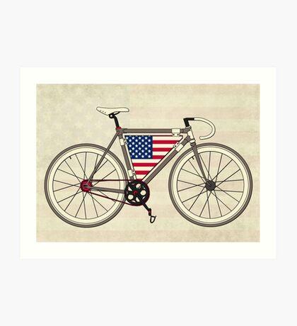 Love Bike, Love America Art Print
