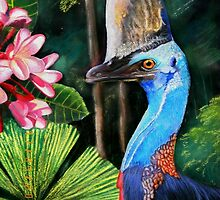 Southern Cassowary  (Hung.. Mall Gallery London) by sandysartstudio