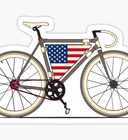 Love Bike, Love America Sticker