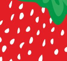 Cream Strawberries Pattern Sticker