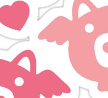 Flying Pigs in Love Sticker