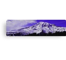Purple Mt. Rainier Canvas Print