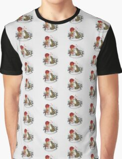 Red Riding Hat Graphic T-Shirt