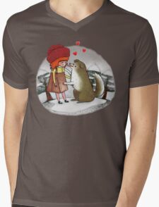 Red Riding Hat Mens V-Neck T-Shirt