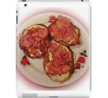 Potato pancakes with cheese and bacon ... Bon Appetit ! iPad Case/Skin