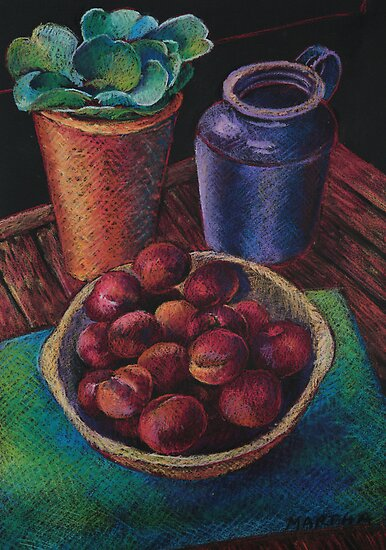 Still Life with Plums by Martha Mitchell
